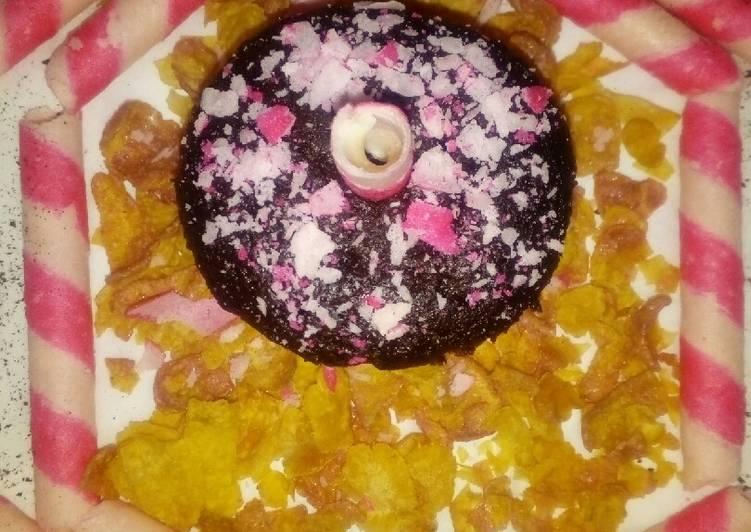 Valentine's chocolate muffin