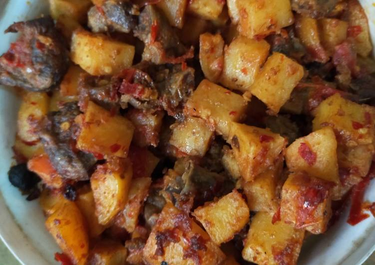 Resep sambal ati kentang gampang