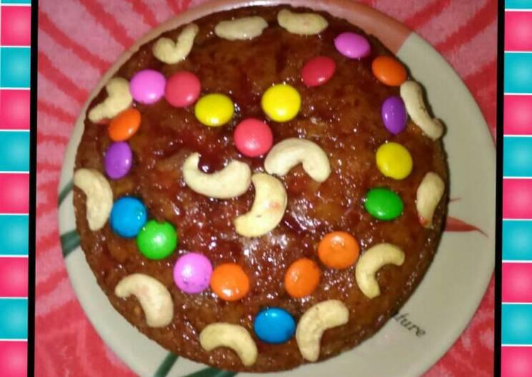 Eggless nut & fruit cake