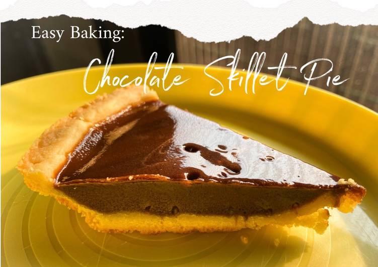 Easy Baking: Chocolate Skillet Pie (Pie Susu Coklat Teflon)