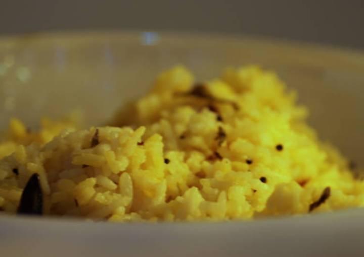 Yellow Rice & Baby Potato Stir Fy