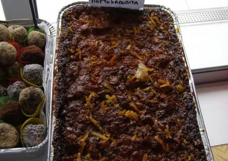 Orange pie from Chania