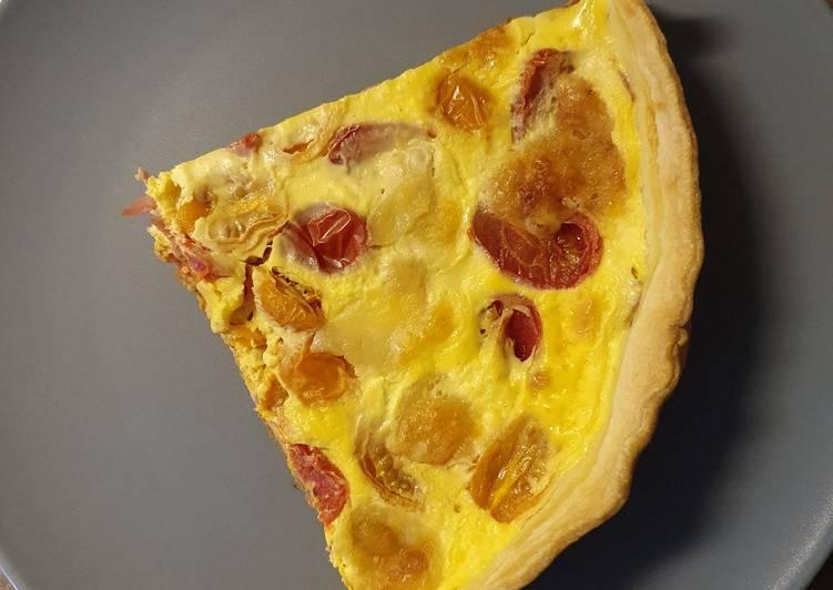 Quiche thon tomate mozza