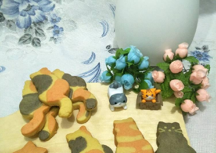 Calico Cat Cookies 🐱