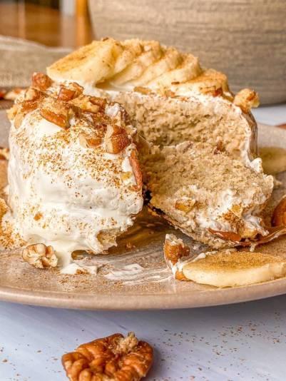 Receta mugcake banana bread