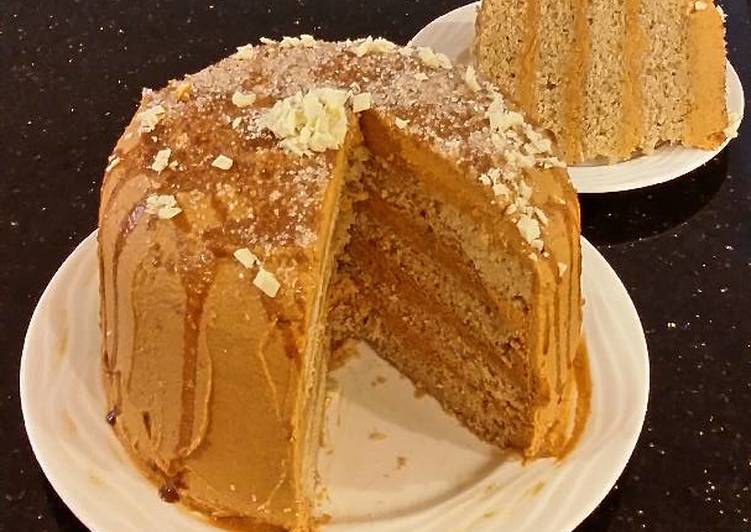Cinnamon Layer Cake with Whipped Cinnamon Cream Filling and Frosting