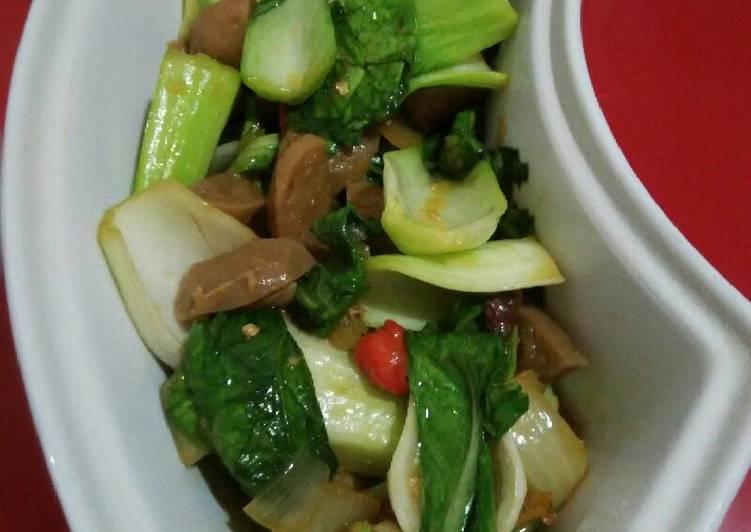 Sawi sendok cah(ambil dari bakso sapi goreng mentega kira2 2 sendok makan)