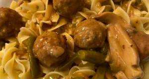 Slow Cooker Salisbury Steak Meatballs