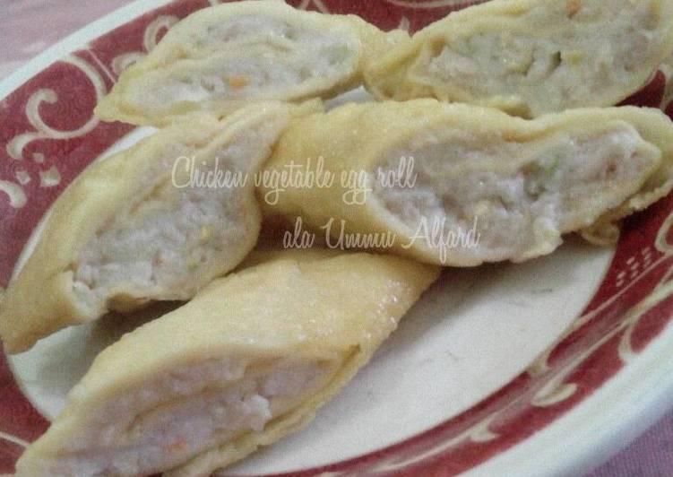 Chicken Vegetable Egg Roll ala Ummu Alfard