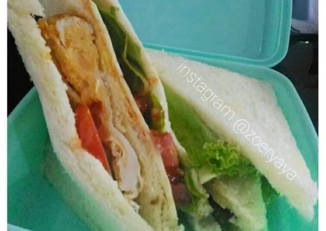 Roti sandwich bekal anak sekolah
