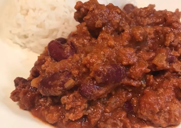 Quick weeknight chilli con carne