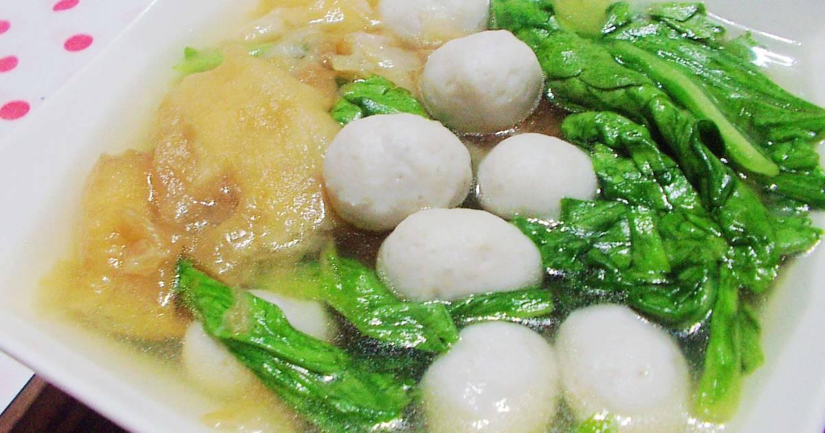 茼蒿油條虱目魚丸湯食譜 by 歐巴桑的快樂廚房 - Cookpad