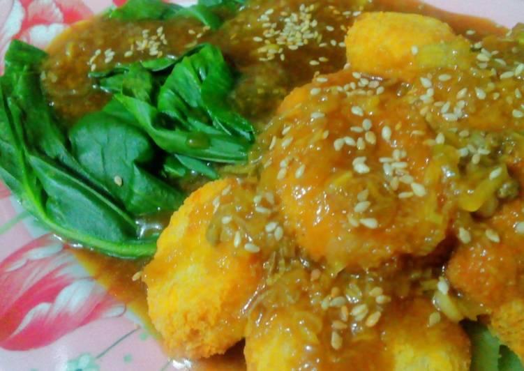 Chicken nugget bumbu wijen
