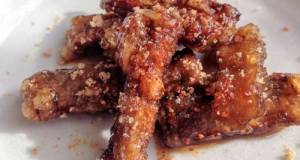 Fried Burdock Root With Sweet & Salty Sauce