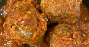 Bison chipotle meatballs