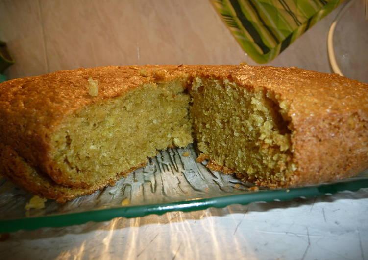 Gateau moelleux citron vert lait de coco