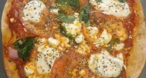 Air Fryer Pita Margherita Pizza
