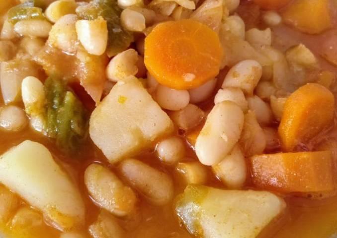 Potaje de habichuelas con verduras (0% grasa)