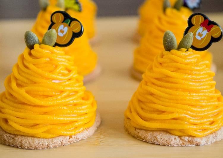 Pumpkin Mont Blanc Cake (Squash Cake) ★Recipe video★