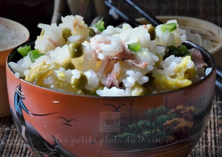 Riz cantonnais (riz frit) pour Nouvel An chinois