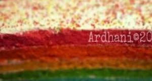 Rainbow steam cake