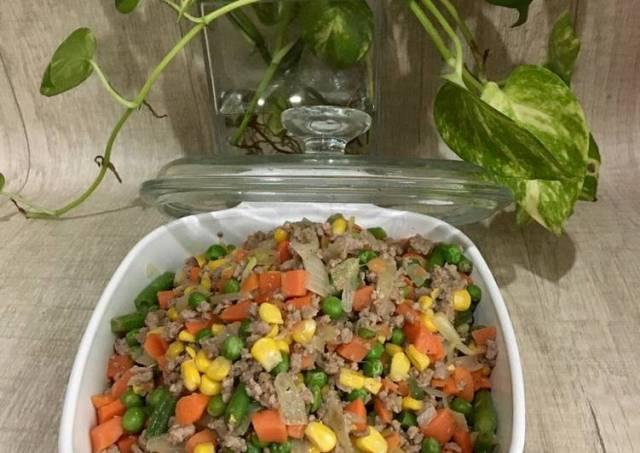 Tumis Mix Vegetable dan Daging sapi giling