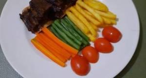 Iga bakar saus lada hitam (Simple recipes) pakai SAORI 😂