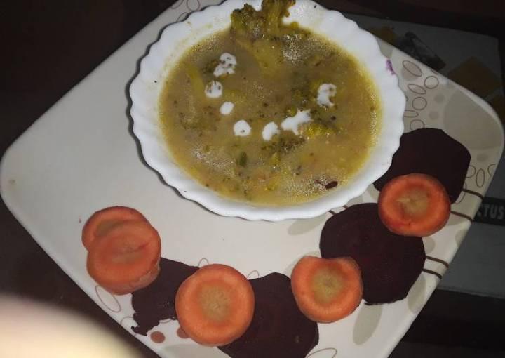 #winter Creamy spicy Broccoli soup
