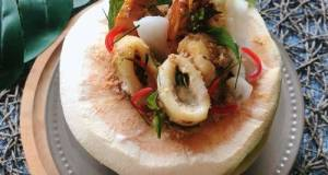 Thai Steamed Seafood Curry In Coconut •How Mok • Thai Red Curry Paste