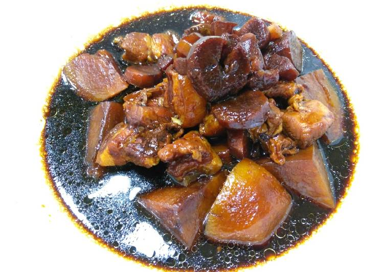 卤三层肉 Braised Pork Belly