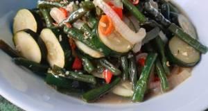 Tumis Zucchini Kacang Panjang
