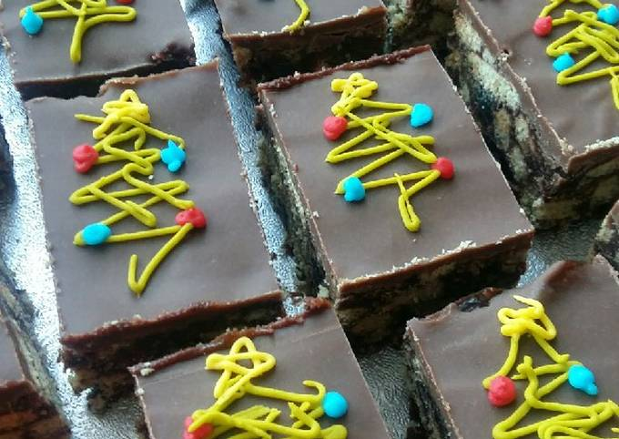 Vickys Christmas Tiffin Slice, GF DF EF SF NF Vegan