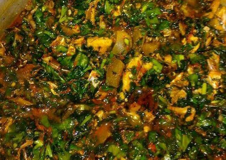 Vegetable soup (edikaikong)