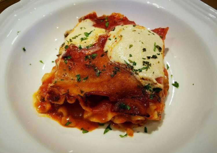 Gluten-free and Vegan Lasagna GF, DF, EF, V