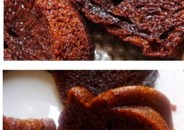 Cake Caramel Sarang Semut (Panggang & Kukus)
