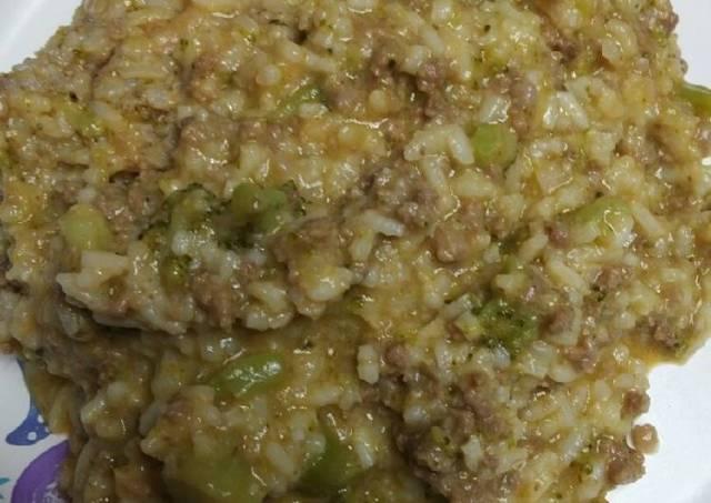 Cheesy Beef Broccoli and Rice