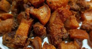 Five Spiced Fried Pork Belly non halal