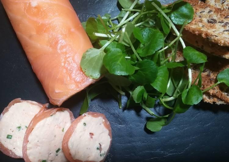 Smoked salmon paupiette