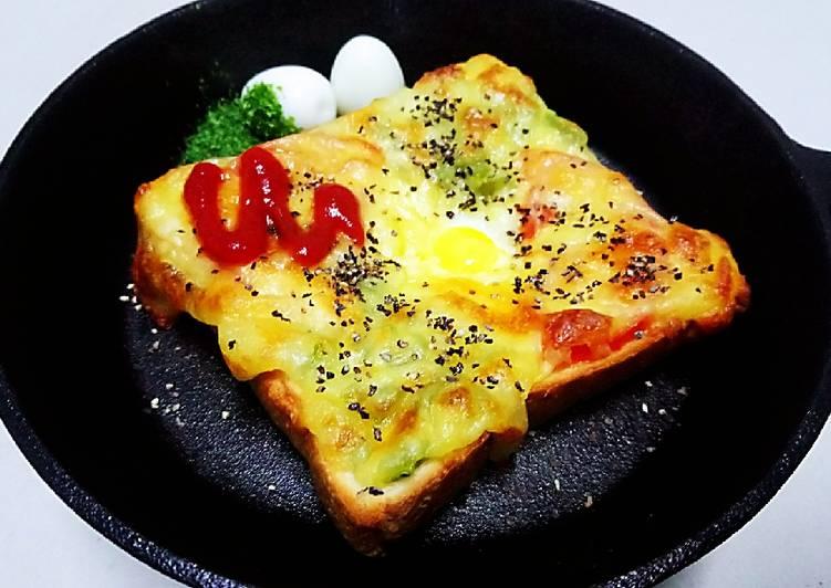 石生 發表的 焗烤吐司鳥蛋燒(蛋奶素) 食譜 - Cookpad
