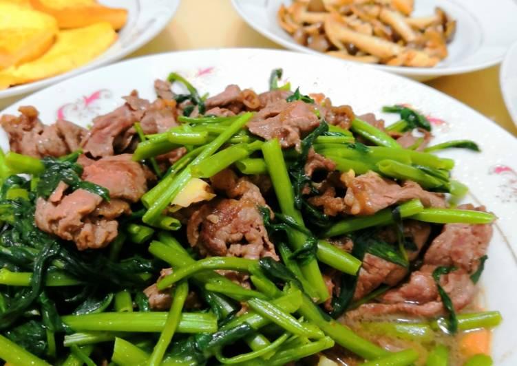 小小 發表的 空心菜炒牛肉 食譜 - Cookpad