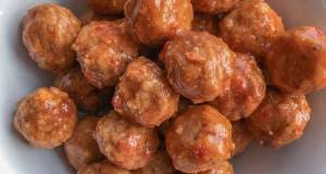 Crockpot Sweet Asian Chili Meatballs