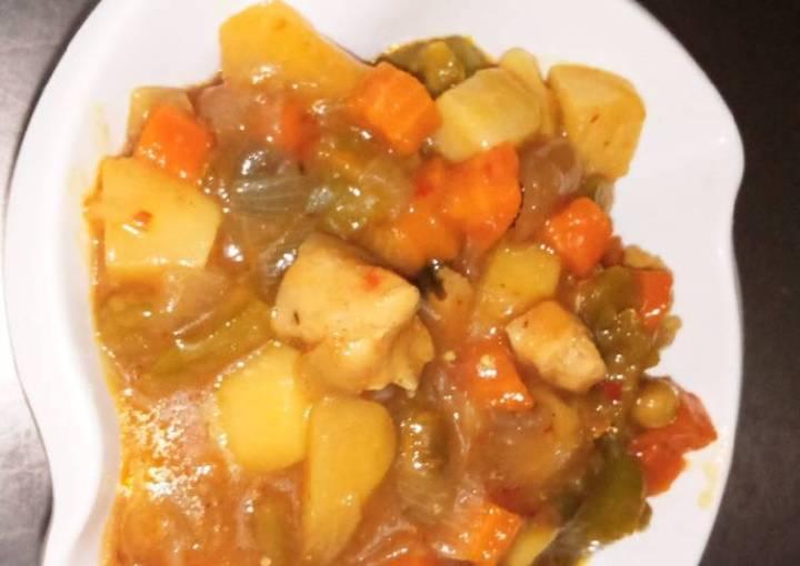 Potatoes onions soup