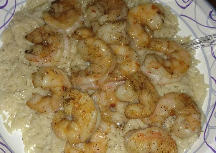 Easiest Way to Make Appetizing Grilled Summer Shrimps with Orzo