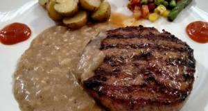 Steak wagyu saus lada hitam