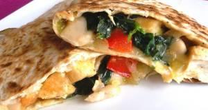 Chicken Spinach And Cannellini Bean Quesadillas