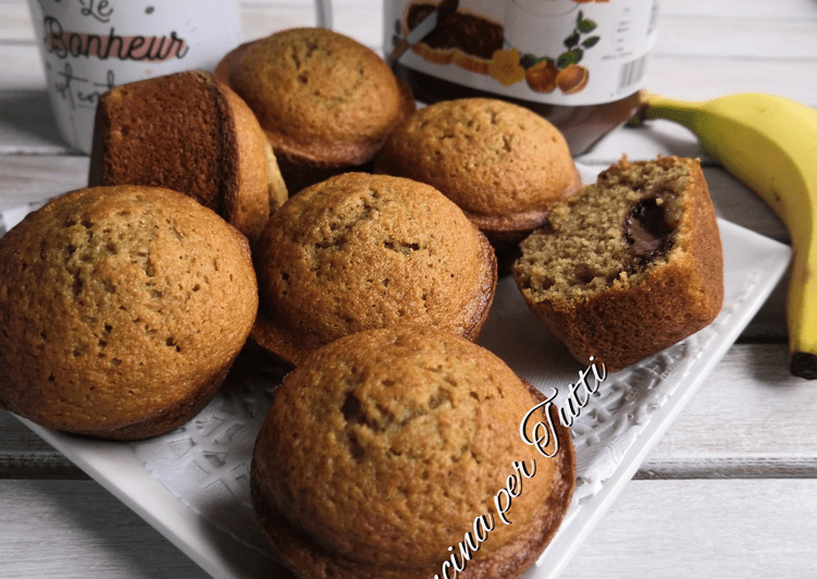 Muffins Nutella bananes