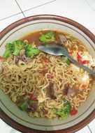 Mie Rebus Pedas : rebus, pedas, Resep, Rebus, Pedas, Dengan, Minyak, Wijen, Sederhana, Rumahan, Cookpad