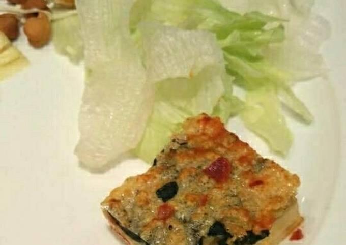 Healthy Vegan Vegetable Frittata in Microwave