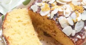 Lemon Almond Pound Cake With Lemon Glaze (Dairy Free)