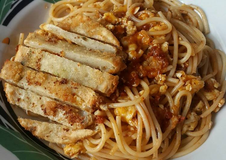 Express Pasta with Chicken Patty edisi Easy Breakfast